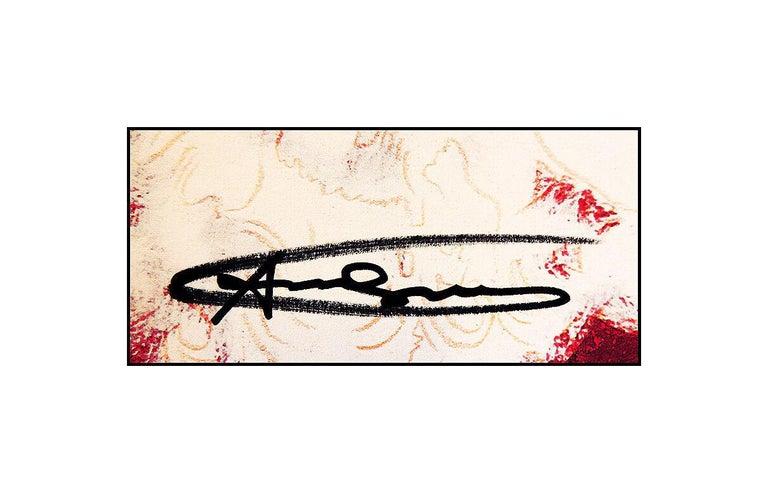 Andy Warhol Rare Santa Claus Color Lithograph Original Hand Signed Myths Pop Art For Sale 1