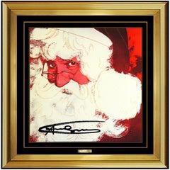 Andy Warhol Rare Santa Claus Color Lithograph Original Hand Signed Myths Pop Art