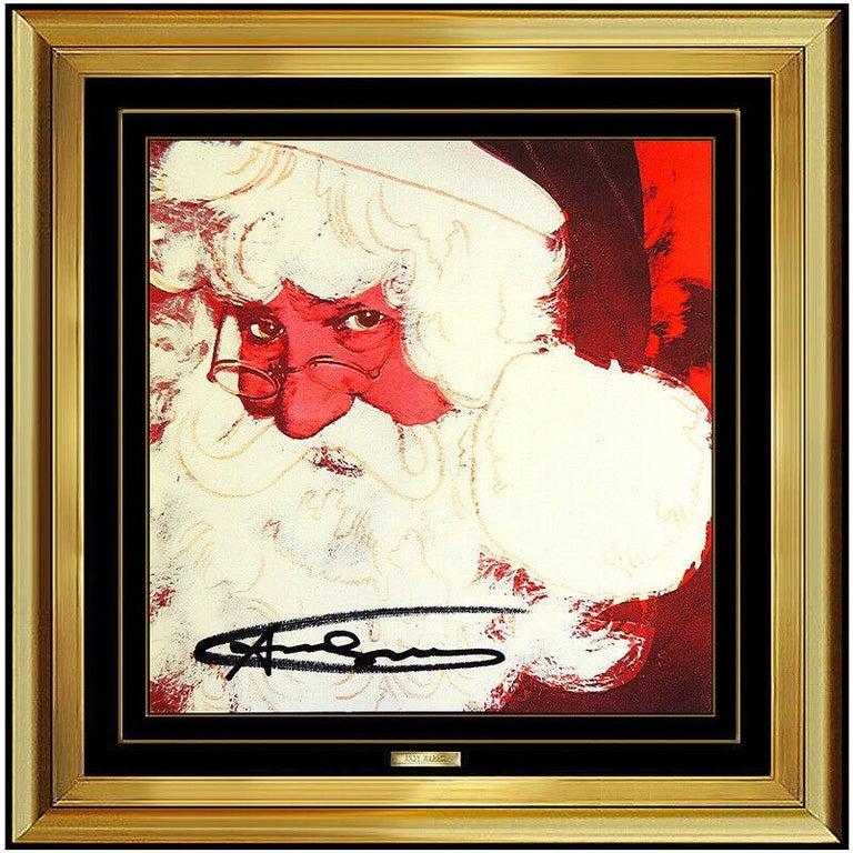 Andy Warhol Rare Santa Claus Color Lithograph Original Hand Signed Myths Pop Art - Print by Andy Warhol