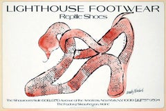 Andy Warhol Shoes poster 1979 (Andy Warhol reptile shoes)