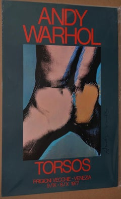 "Andy Warhol Signed ""Torsos"" Exhibition Poster c.1977"