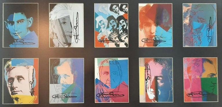 Andy Warhol Ten Portraits of Jews Hand signed invitation card portfolio FRAMED - Pop Art Print by Andy Warhol