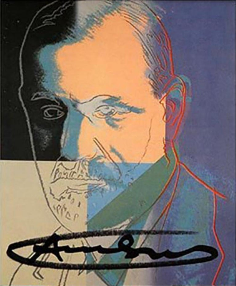 Andy Warhol Ten Portraits of Jews Hand signed invitation card portfolio FRAMED For Sale 2