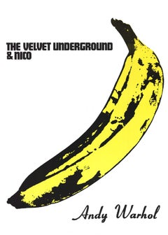 "Andy Warhol-The Velvet Underground & Nico-54"" x 39.5""-Poster-Pop Art-Black"