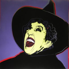 "Andy Warhol ""The Witch"" Screenprint. Margaret Hamilton, Wizard of OZ"
