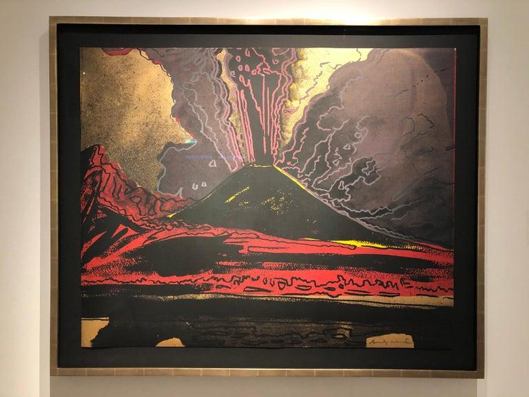Andy Warhol, Vesuvius, Unique TP Silkscreen, signed, 1985 For Sale 1