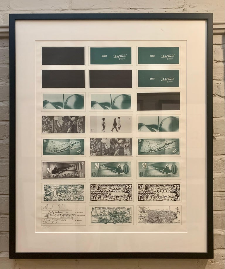 Art Cash (triptych) - Gray Print by Andy Warhol