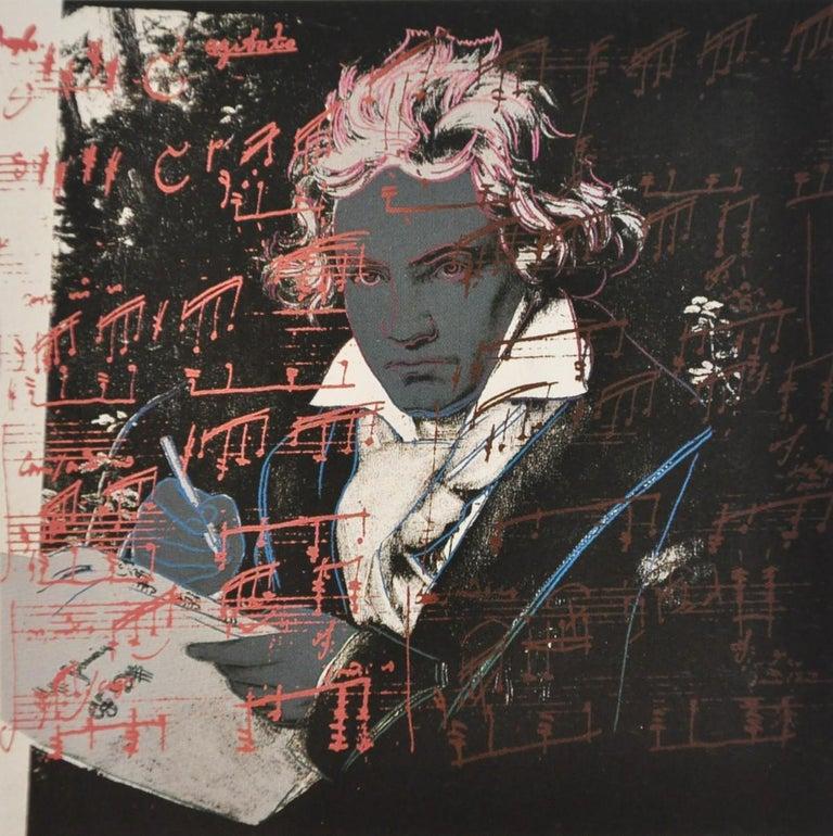 Andy Warhol Portrait Print - Beethoven (FS II.391)
