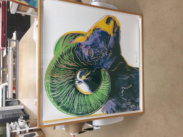 Bighorn Ram (FS II.302) - Pop Art Print by Andy Warhol