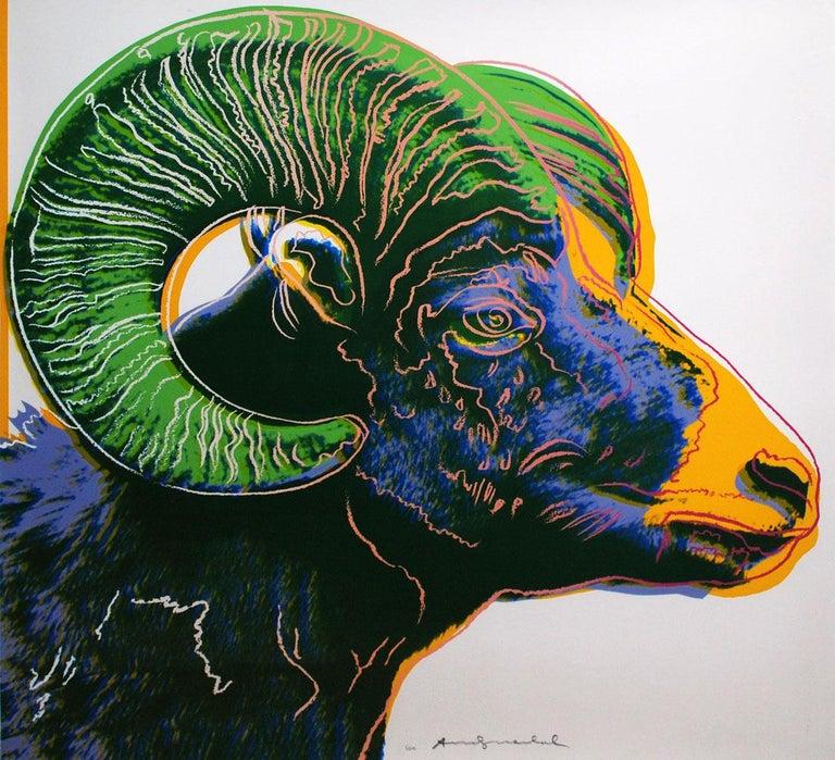 Bighorn Ram (FS II.302) - Print by Andy Warhol