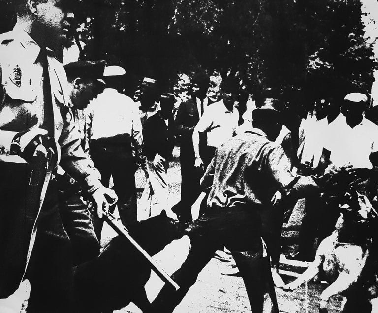 Andy Warhol Figurative Print - Birmingham Race Riot