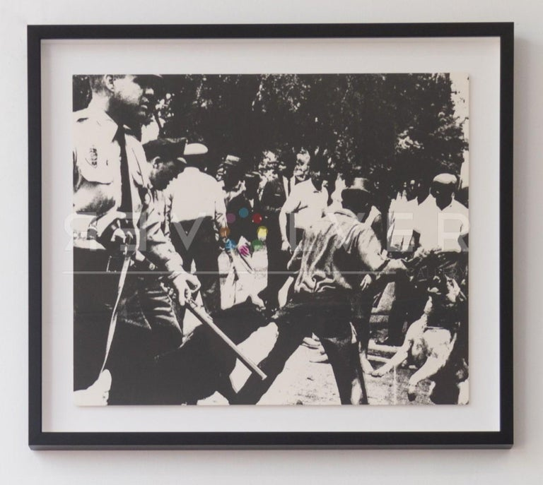 Birmingham Race Riot (FS II.3) - Black Portrait Print by Andy Warhol