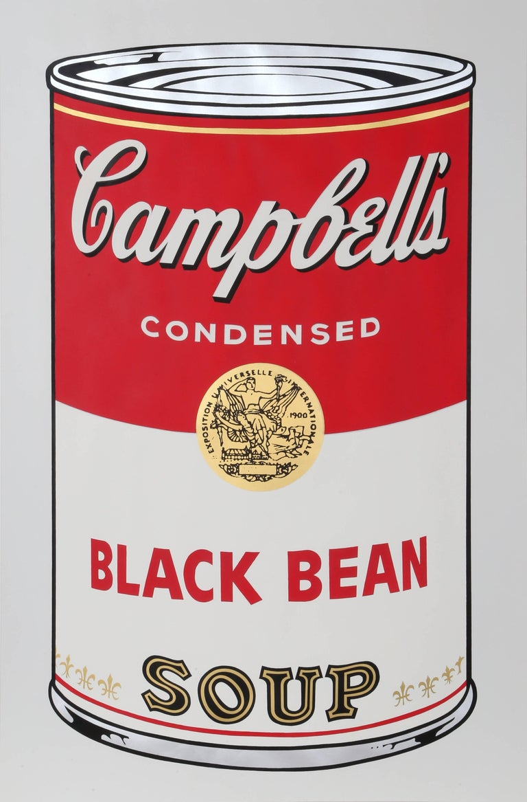 Black Bean from Campbell Soup I, FS.II.44 Screenprint by Andy Warhol 1968 For Sale 1