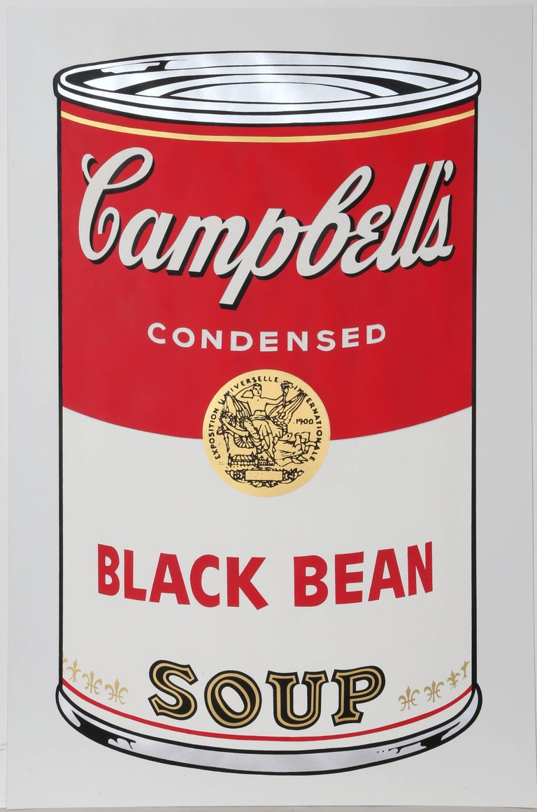 Black Bean from Campbell Soup I, FS.II.44 Screenprint by Andy Warhol 1968 For Sale 3