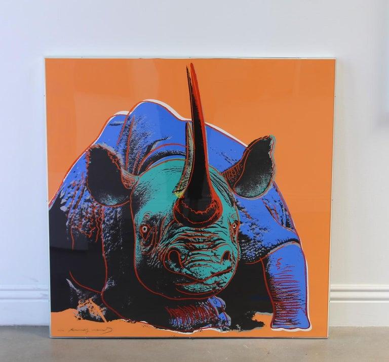 Black Rhinoceros (FS II.301) - Print by Andy Warhol