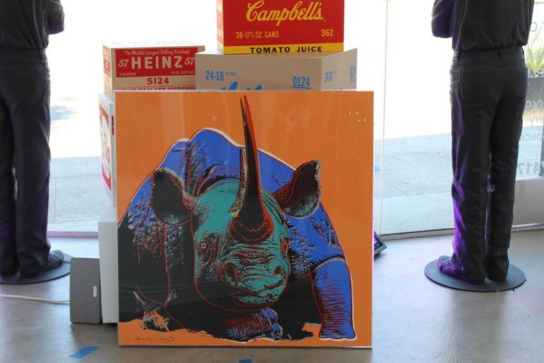 Black Rhinoceros (FS II.301) - Pop Art Print by Andy Warhol