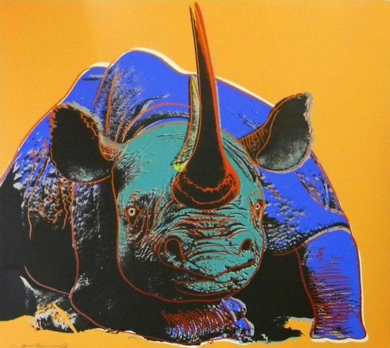 Andy Warhol Animal Print - Black Rhinoceros (FS II.301)