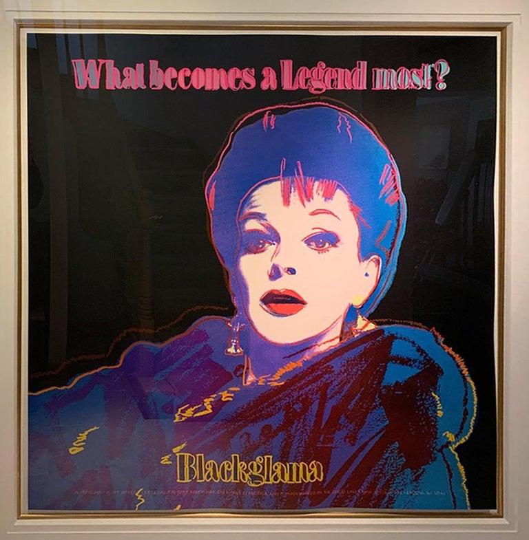 Andy Warhol Portrait Print - Blackglama (Judy Garland)