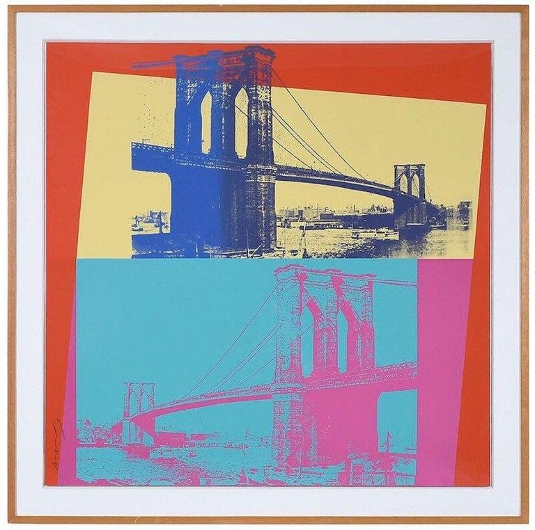 Brooklyn Bridge, FS 11.290 - Print by Andy Warhol