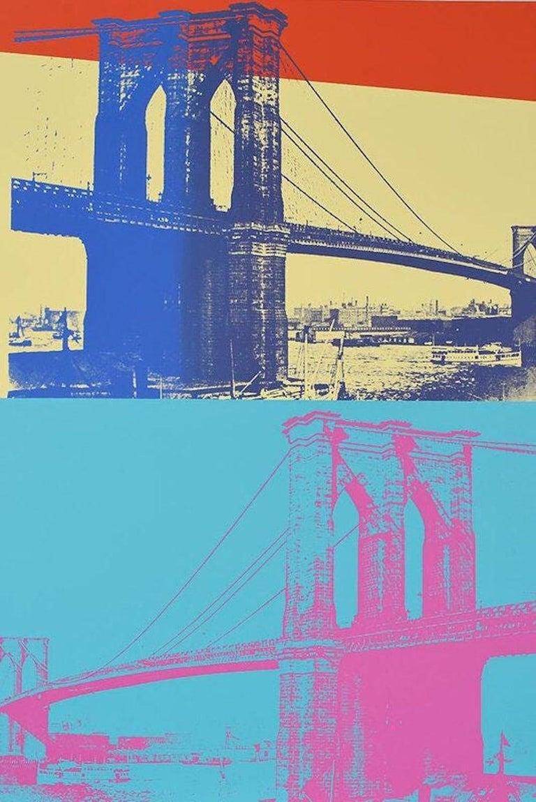 Brooklyn Bridge, FS 11.290 - Pop Art Print by Andy Warhol