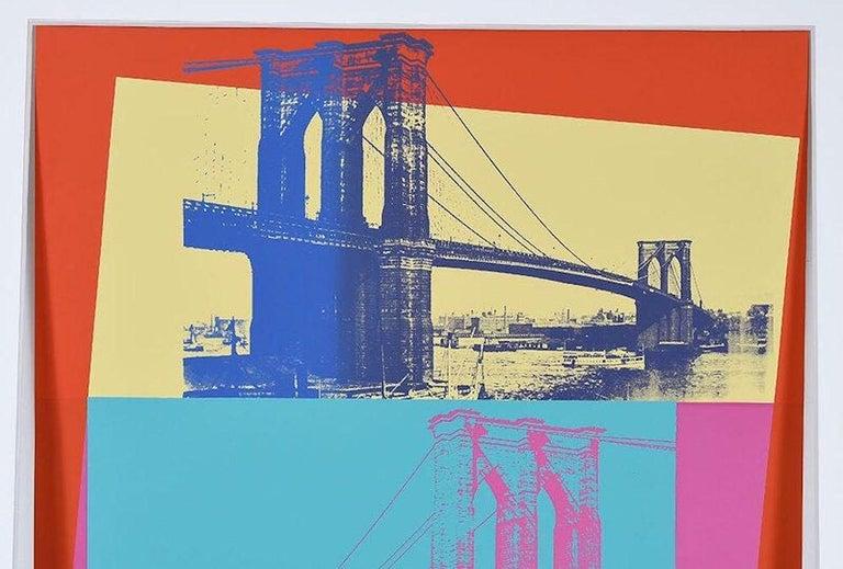 Brooklyn Bridge, FS 11.290 - Gray Landscape Print by Andy Warhol