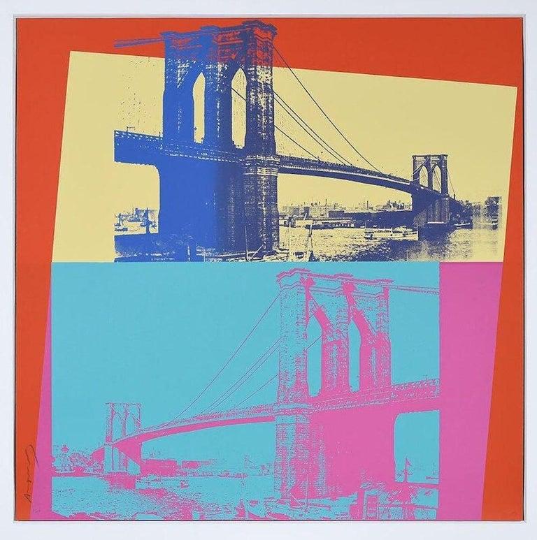 Andy Warhol Landscape Print - Brooklyn Bridge, FS 11.290