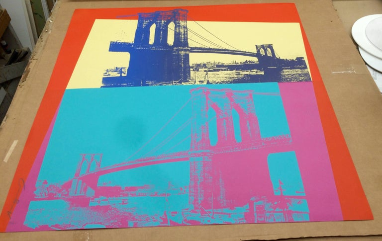 Brooklyn Bridge (FS II.290) - Print by Andy Warhol