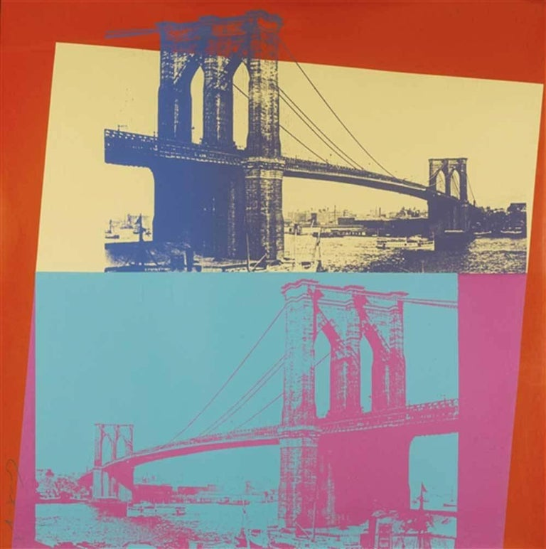 Andy Warhol Landscape Print - Brooklyn Bridge (FS II.290)