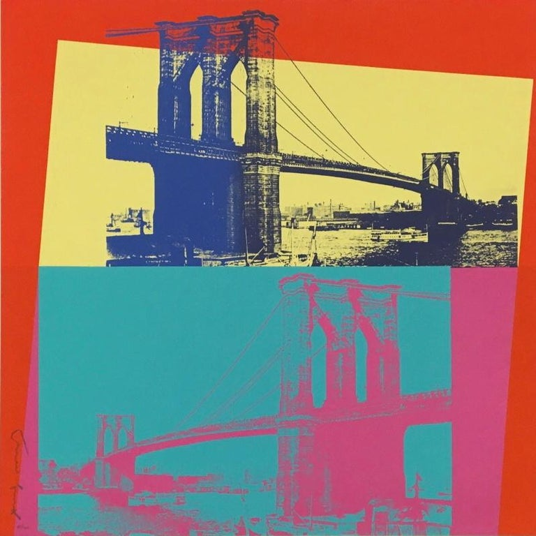 Andy Warhol Landscape Print - Brooklyn Bridge F&S II.290