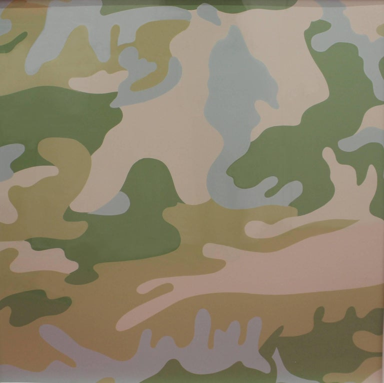 Camouflage, Complete Portfolio (FS II.406-FS II.413) - Brown Abstract Print by Andy Warhol
