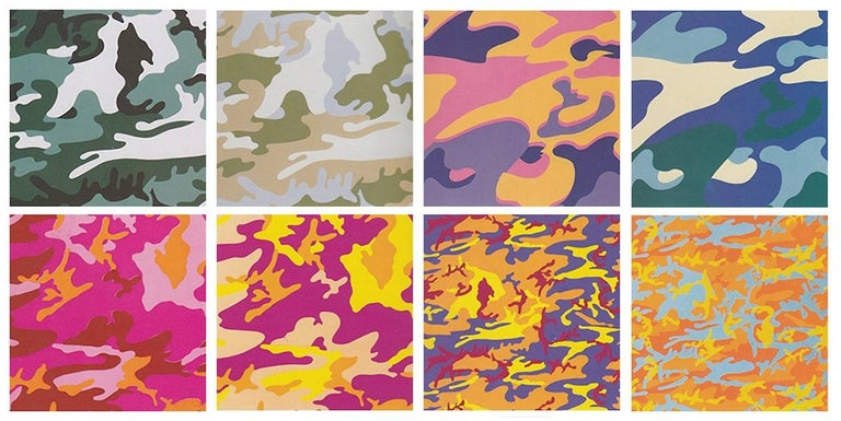 Andy Warhol Abstract Print - Camouflage, Complete Portfolio (FS II.406-FS II.413)