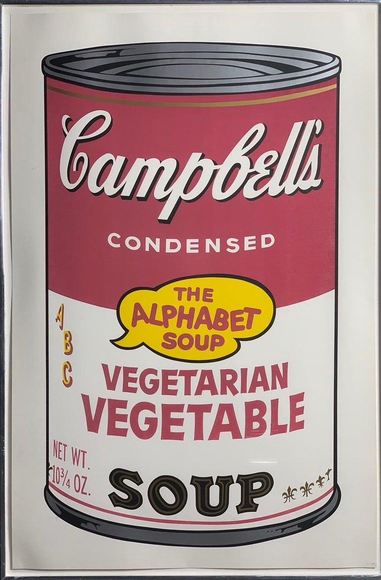 Campbell ́s Soup II (F. & S. II. 54-63), 1969    Ten screen prints in colors, on smooth wove paper Each image: 31 7/8 x 18 1⁄2 inches (809 x 469 mm) Each sheet: 35 x 23 inches (889 x 584 mm) Each signed Andy Warhol in ballpoint pen, and
