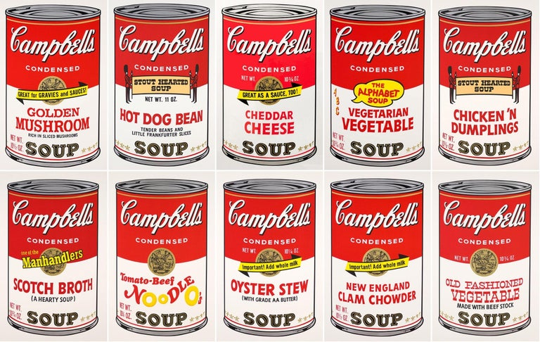 Andy Warhol Print - Campbell ́s Soup II (F. & S. II. 54-63 Ten screen prints), 1969