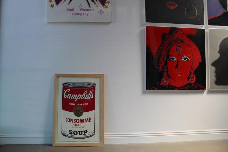 CAMPBELL'S SOUP I: CONSOMMÉ 52  Campbell's Soup I: Consommé 52 is part of Warhol's first Campbell's Soup portfolios, Campbell's Soup I. One of the reasons that Andy Warhol chose to feature Campbell's soup was because of his fascination with consumer