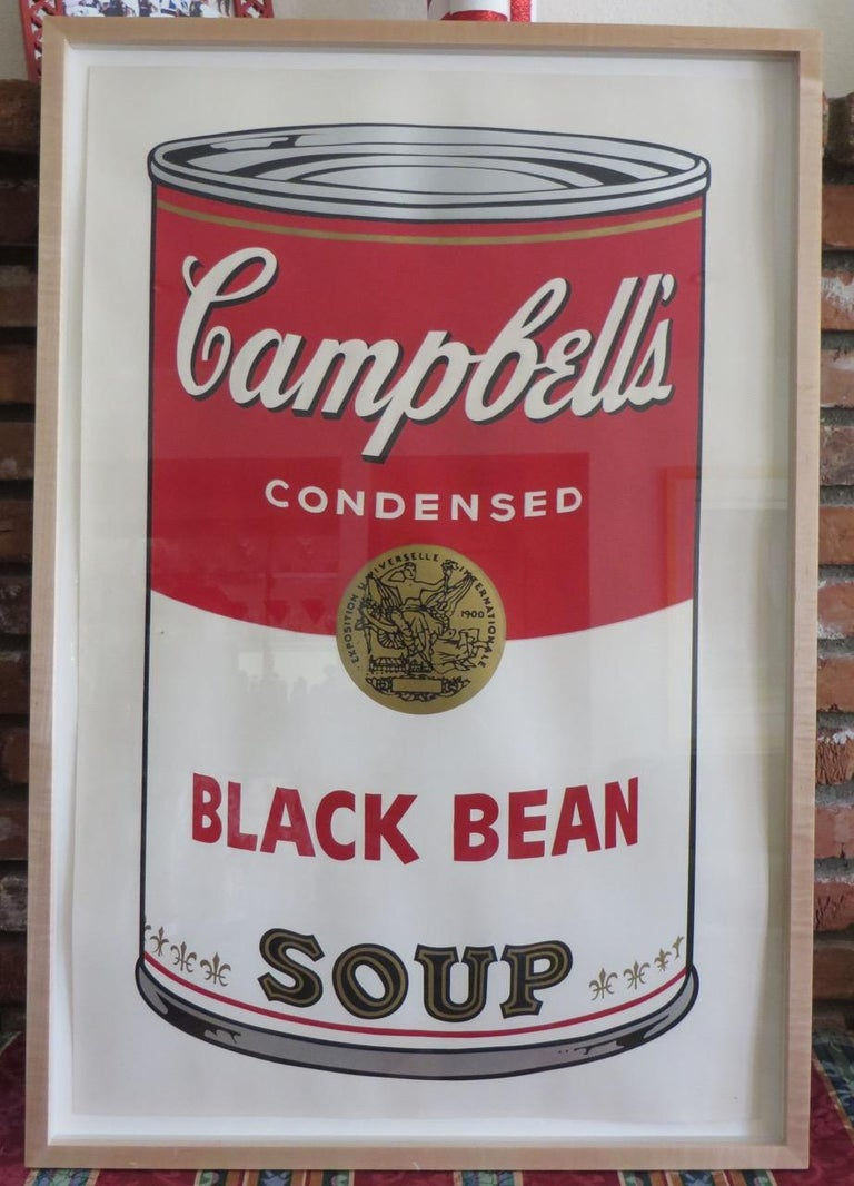 Campbell's Soup I: Black Bean (FS II.44) - Pop Art Print by Andy Warhol