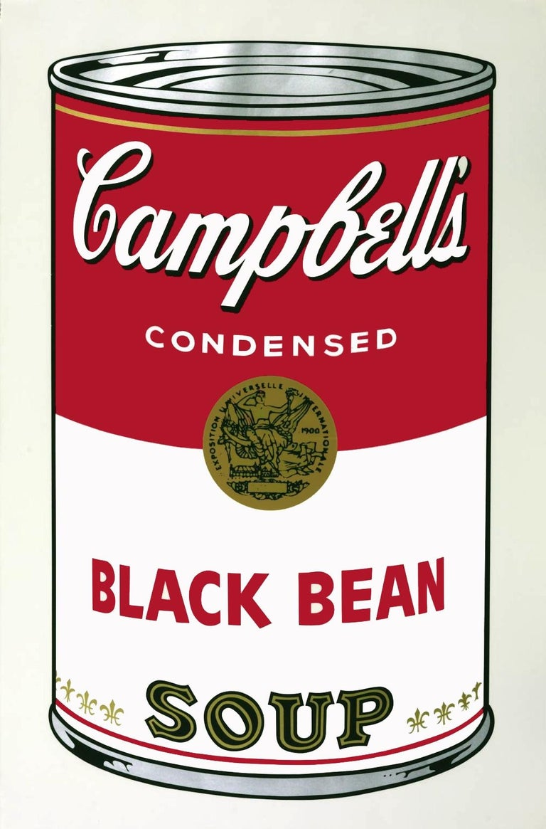Campbell's Soup I: Black Bean (FS II.44) - Print by Andy Warhol