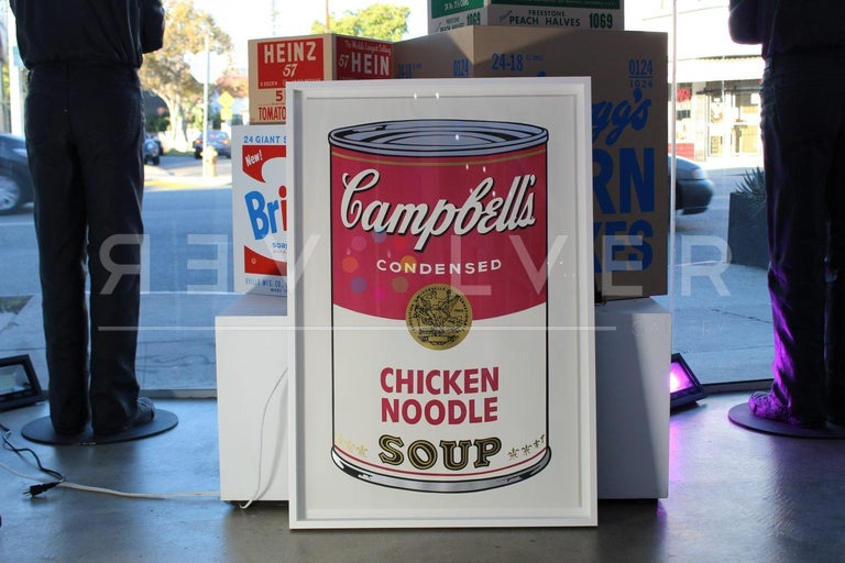 CAMPBELL'S SOUP I: CHICKEN NOODLE 45 Campbell's Soup I: Chicken Noodle 45 is part of Warhol's first Campbell's Soup portfolios, Campbell's Soup I. One of the reasons that Andy Warhol chose to feature Campbell's soup was because of his fascination