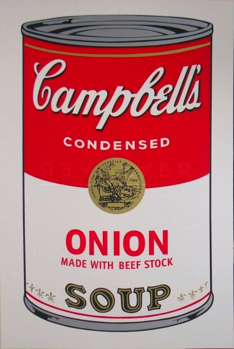 Campbell's Soup I: Onion Made With Beef Stock (FS II.47) - Print by Andy Warhol