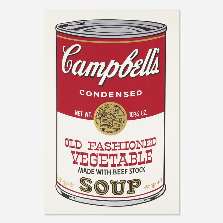 Andy Warhol Still-Life Print - Campbell's Soup II, Old Fashioned Vegetable FS II 54