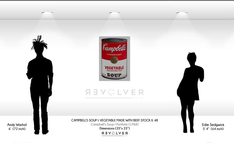 CAMPBELL'S SOUP I: VEGETABLE 48  Campbell's Soup I: Vegetable 48 is part of Warhol's first Campbell's Soup portfolios, Campbell's Soup I. One of the reasons that Andy Warhol chose to feature Campbell's soup was because of his fascination with