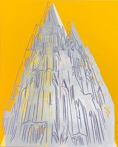 Cologne Cathedral, 1985; Screenprint with diamond dust