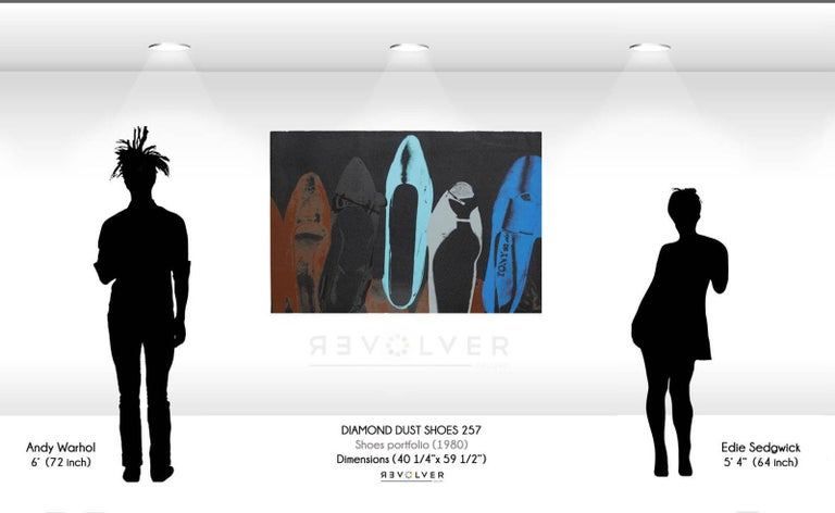 Diamond Dust Shoes (FS II.257)  - Black Still-Life Print by Andy Warhol