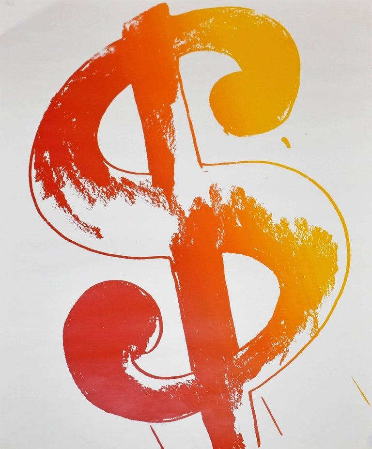 Andy Warhol Abstract Print Dollar Sign