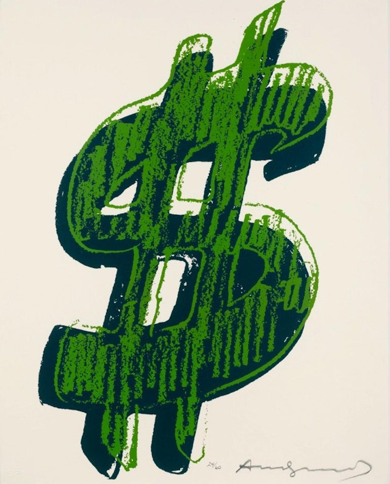 Dollar Sign, Green (FS II.278) - Print by Andy Warhol