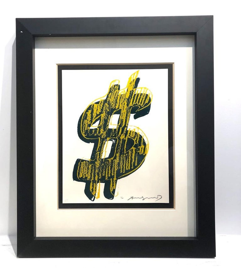 "DOLLAR SIGN 278) AS PART OF ANDY WARHOL'S LARGER BODY OF WORK  The Dollar Sign series from 1982 was the ultimate manifestation of Andy Warhol's love affair with money. Warhol once said, ""I like money on the wall."" and the Dollar Sign Series was his"