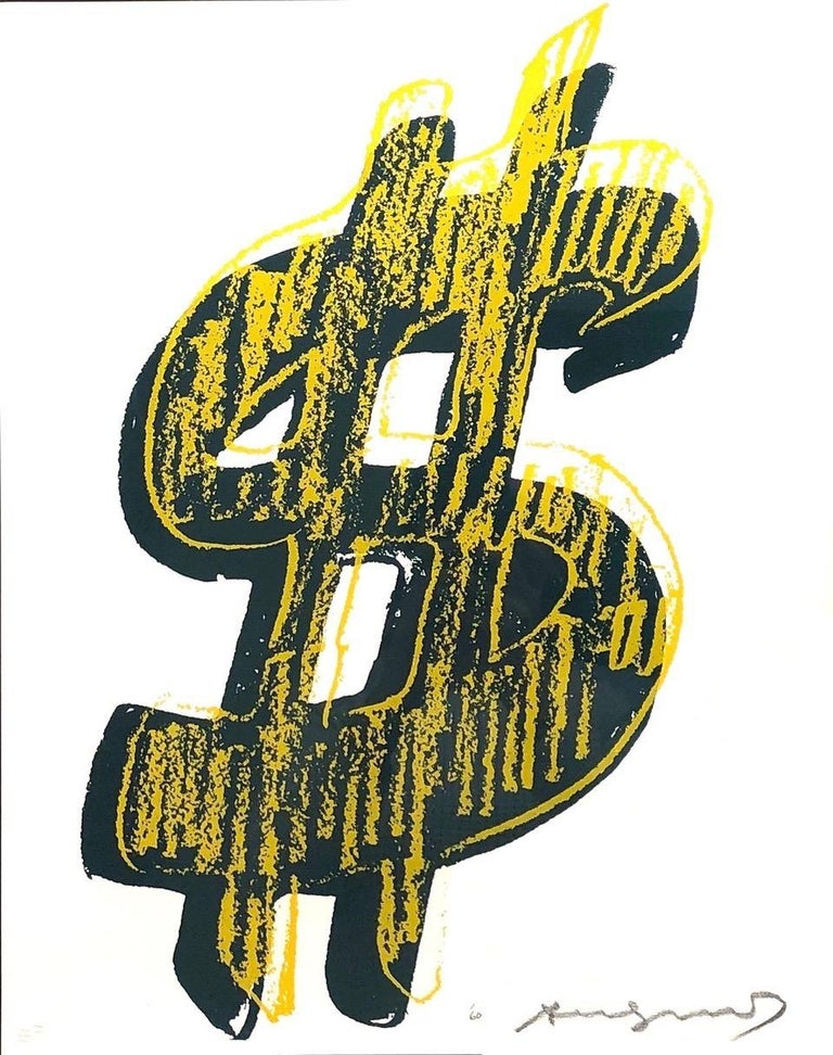 Dollar Sign, Yellow (FS II.278) - Print by Andy Warhol