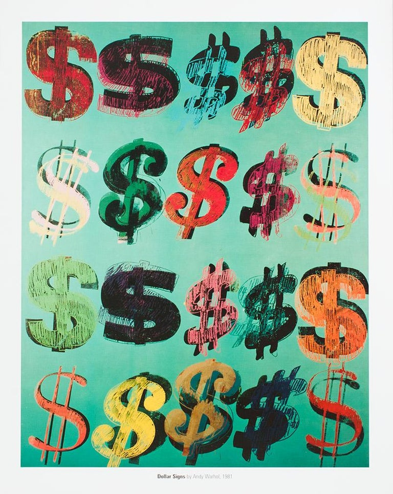Dollar Signs 1981 Andy Warhol Lithograph Print By
