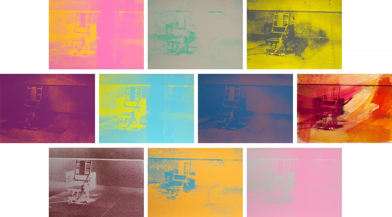 Andy Warhol Figurative Print - Electric Chairs