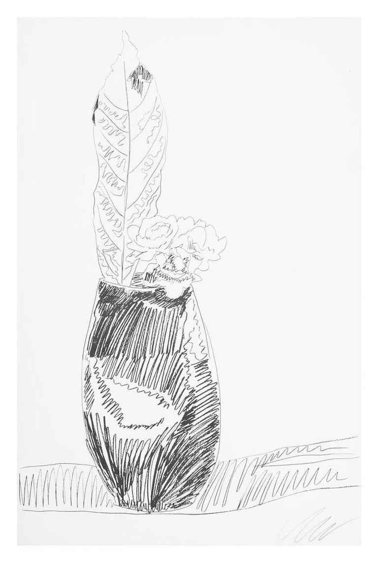 Flower (Black & White), Andy Warhol - Print by Andy Warhol
