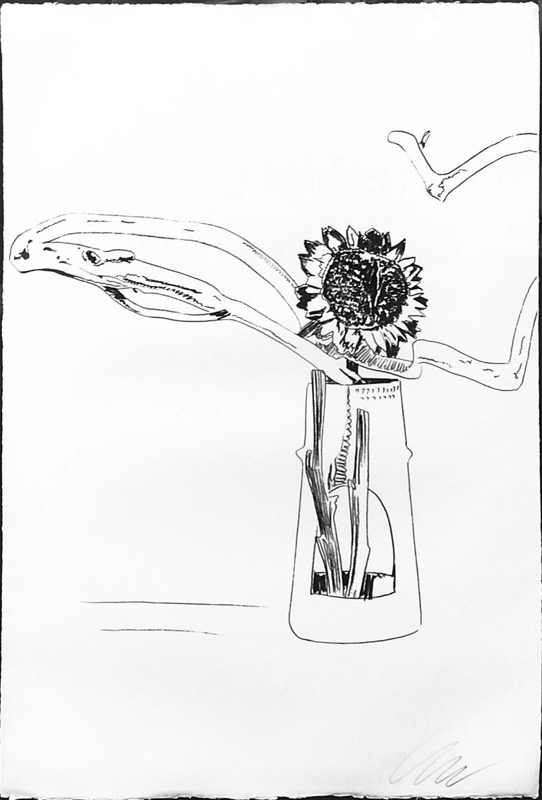 Andy Warhol Still-Life Print - FLOWERS FS II.102 (BLACK AND WHITE)
